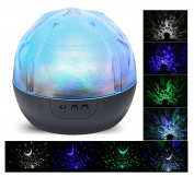 Anpress Portable Kids Night Light Projector (3 Colour Changing, 360 Degree Rotation, 3 Project Films Changeable