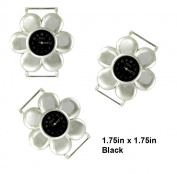 TVT 2pcs Flower Ribbon Watch Faces for Your Interchangeable Beaded Bands TVT-4159