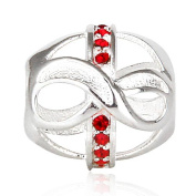 Choruslove Infinity Love with Red Crystal July Birthstone 925 Sterling Silver Bead