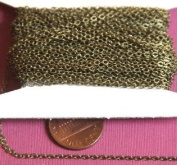 3m of Antique Brass Tiny Flat Soldered Cable Chain 2mm