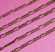 3m of Antique Brass figaro chain 2X4.5mm - Soldered links
