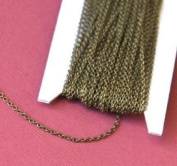9.8m spool of Antique Brass round cable chain 1.5mm