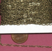 9.8m spool of DYI Bulk Antique Brass chain ( 3 and 1 ) Long and Short Chain 4.5X2.5mm Soldered Links