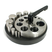 Disc Cutter - Circle - 10 Punches - Rubber Base - for Jewellery Making - SFC Tools 28-590