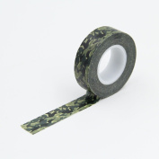 Green Forest Camouflage Washi Paper Masking Tapes DIY Sticker Crafts Scrapbooking Decorative Stickers Gift Wrapping Tape