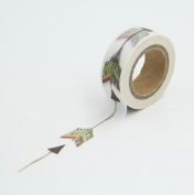 Feather Arrow Washi Paper Masking Tape Scrapbooking Tapes Gift Wrapping Sticker