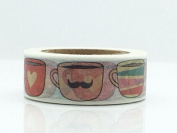 Lovely Cute Cat Face Cup Mug Washi Paper Masking Tapes DIY Tape Scrapbooking Sticker Decorative