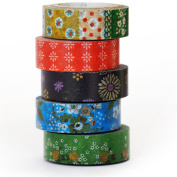 Floral Assortment - Washi Tape - Made in Japan - Set of 5