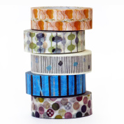 Chic and Groovy - Washi Tape - Made in Japan - Set of 5