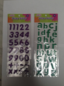 Glitter Numbers and signs Pack of 29 total