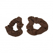 Set of 2 Solid Scrunchies - Light Brown
