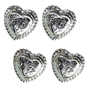 Set of 10 Western Engraved 1.3cm Heart Conchos Saddle tack belt