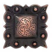 "Berry Square Concho 1.5"" (3.8 cm) Screwback Copper 2323-10"