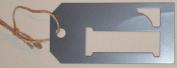 Stencil Cut Initial Metal Tag - L