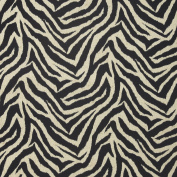 Wild Thing Black White Natural Animal Print Outdoor Upholstery Fabric by the yard