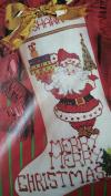 Merry Christmas Santa Stocking Counted Cross Stitch Kit 50591