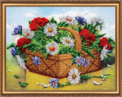 "Beaded DIY Embroidery Kit ""Basket of summer"""