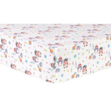Trend Lab Winter Wishes Deluxe Flannel Fitted Crib Sheet