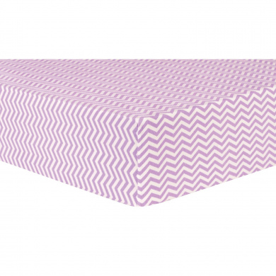 Trend Lab Lilac Chevron Deluxe Flannel Fitted Crib Sheet