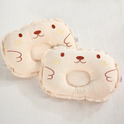 Bedding Coloured Cotton Embroidered Newborns Shaping Pillow Baby Anti Migraine Pillow Organic Cotton Pillow