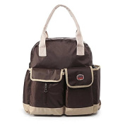 Beautylady Baby Nappy Bag Nappy Bag Mummy Backpack Handbag Shoulder Bag Multi-function with Nappy Changing Pad Coffee