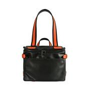 Safelake 30cm Multipurpose Organiser Nappy Bag Black Orange Contrast Colour Shoulder Duffle Bag