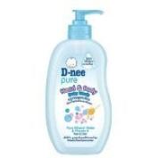 New D-nee Pure Head & Body Baby Wash Pure Mineral Water & Vitamin E 380 Ml