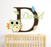 Custom Owl Name Wall Decal Room Decor Nursery Wall Decal Vinyl Sticker
