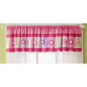Carters Child of Mine Girl Pink Butterfly Blossoms Window Nursery Valance