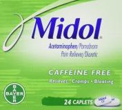 Midol Cramp & Bloating Relief Caffeine Free Caplets 24 ct