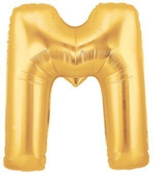 Lovne 100cm Gold Alphabet M Balloon Birthday Party Decorations Helium Foil Mylar Letter Balloon