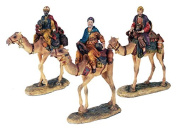 Three Kings Riding Camel Balthasar Melchior Gaspar Magies Nativity Scene Figurine Statue Christmas Decor 29cm