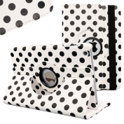 Fogeek Case for iPad Mini,Lovely Polka Dots Pattern 360 Rotating Swivel Stand Leather Case Cover for iPad Mini / Mini 2 / Mini 3 with Auto Sleep/Wake Function