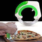 THE DAY Rolling Circular Kitchen Knife Pizza Cutter Salad Chopper