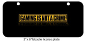 Gaming Is Not A Crime Custom Art Mini 7.6cm x 15cm Aluminium Licence Plate