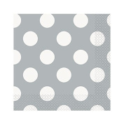 Silver Dots Luncheon Napkins