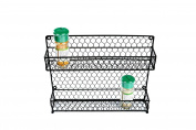 2 Tier Wire Spice Rack Storage Organiser - Wall Mount or Countertop by Trademark Innovations