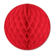 Red Crepe Tissue Ball 36cm 1Ct
