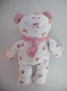 Ralph Lauren Stuffed Teddy Bear - White & Pink