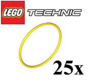 LEGO Technic NEW 25 pcs YELLOW EXTRA LARGE RUBBER BAND BELT PACK Elastic Round Cross Section