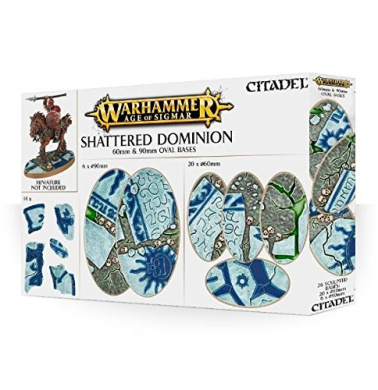 Warhammer Age of Sigmar Shattered Dominion 60mm & 90mm Oval Bases - Citadel