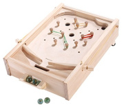 Carpenter Wooden Tabletop Pinball Game Machine with Adjustable Difficulty Levels