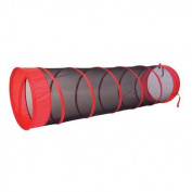 Pacific Play Tents The Fun Tube Tunnel, 1.8m, Red/Black