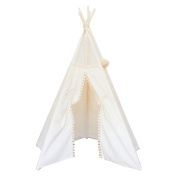 Children Indian Teepee Top Lace Kids Tent Playhouse
