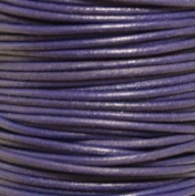 """#11 Violet Round Leather Cord 0.5mm (1/64"""") x 10 m"""