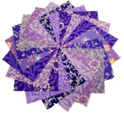 10 25cm X 25cm Purple Passion LAYER CAKE Pack- 10 DIFFERENT - 1 OF EACH