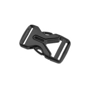 Lightweight 1 Inch(25mm) Side Release Buckles Flat Dual Adjustable
