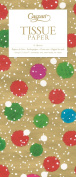 Entertaining with Caspari Snowy Pom Poms Gold Tissue Paper, Package of 4 Sheets