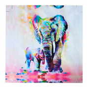 MOHOO 50x50cm Elephant Oil Painting Canvas Wall Art