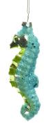 Beautiful Seahorse Glass Hanging Christmas Ornament